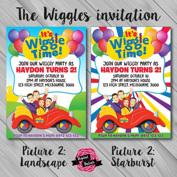 The Wiggles Invitation Choose from 3 Picture and by DigitalDaliah