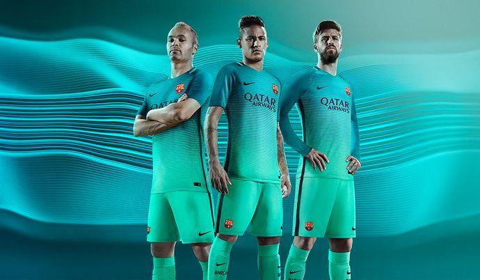 Barcelona terceiro uniforme (Foto: Divulgação/Site oficial do Barcelona)