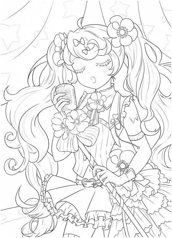 Download Tatacat Flower Fairy Dress Coloring Book Pdf Printable Hd Manga Coloring Book Coloring Books Cute Coloring Pages
