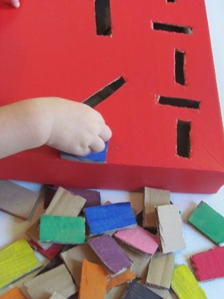 Amazing use of pizza boxes for motor skill activities/games. Next time you pick up instead of having it delivered, ask if you can buy a new/clean box. Have fun!