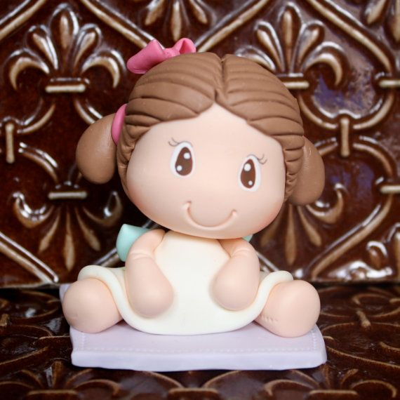 Cold Porcelain Baby Girl Angel Baptism First Communion by gavo, $13.00