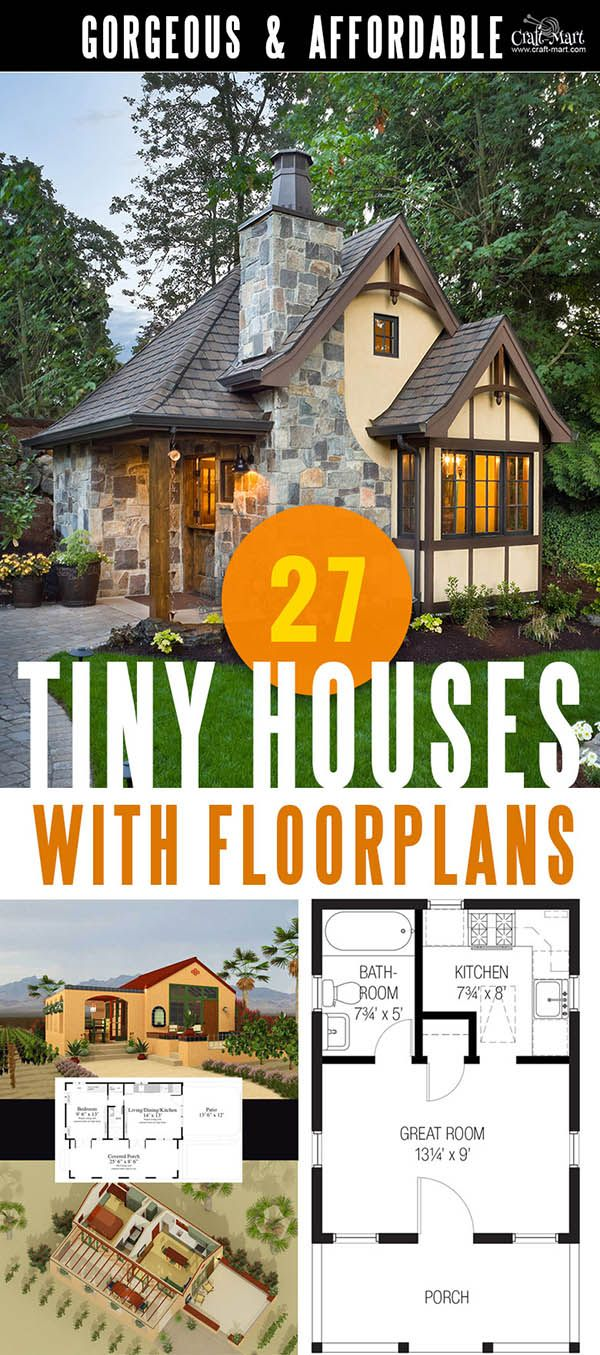 Tiny House Plans And Cabins Prefabs Kits Diy Plans Craft Mart Tiny House Floor Plans House Floor Plans House Flooring