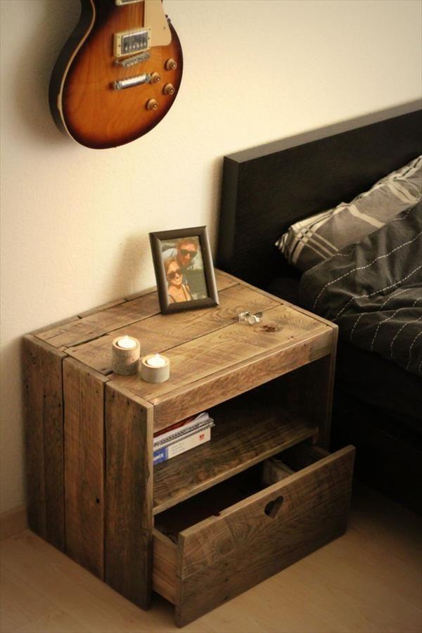 DIY Pallet Nightstand | 99 Pallets