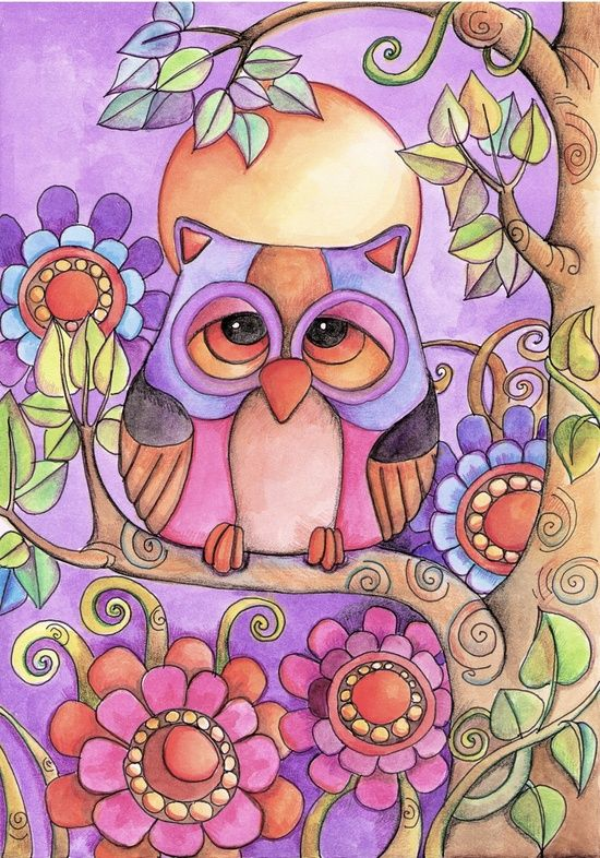 """""""Owl"""" Canvas Print by Lidia Gennari."""
