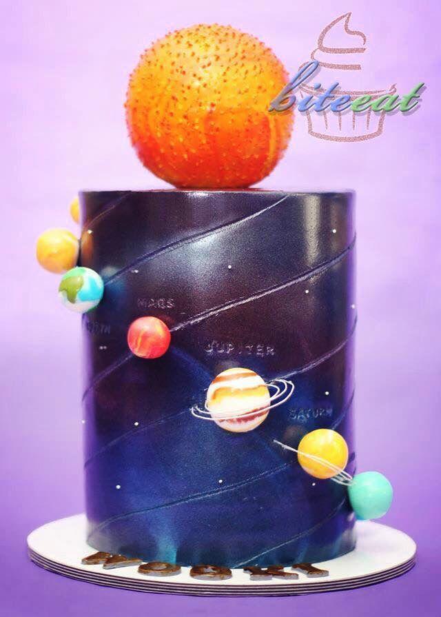 Solar System cake!