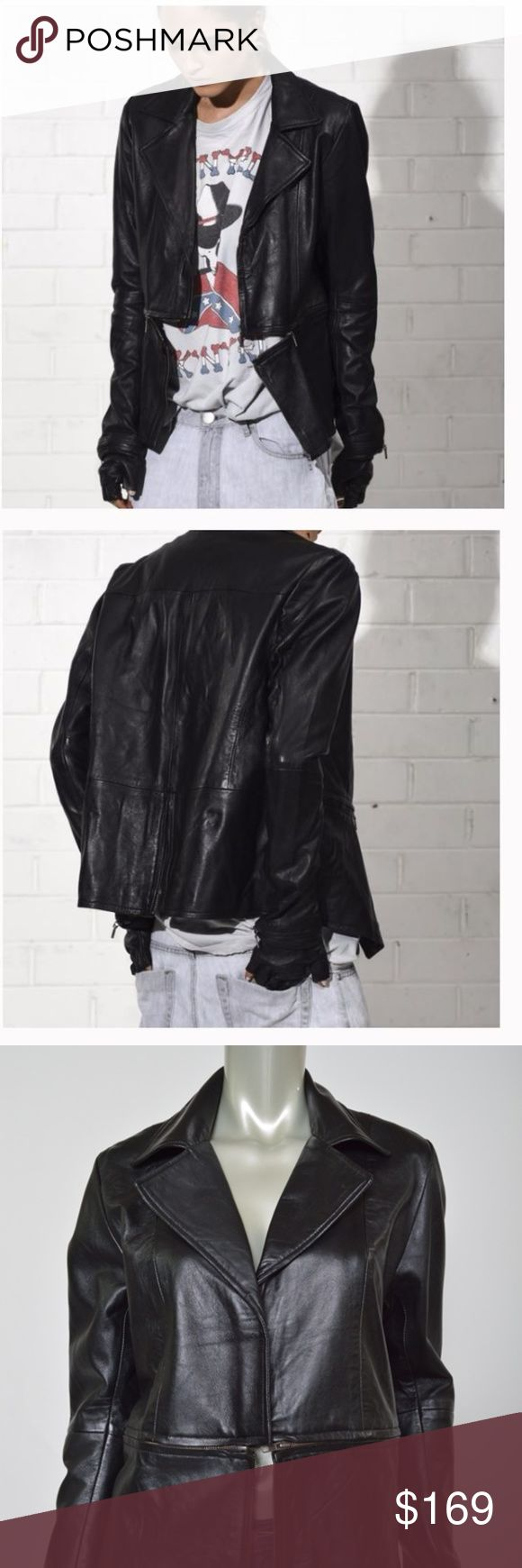One Teaspoon Leather Jacket Small Knights Watch S One Teaspoon Leather Jacket Small Knights Watch Rocker Moto Women's Butter Soft Total length is 24 inches.  Bust is 46 inches, unstretched. Excellent condition One Teaspoon Jackets & Coats