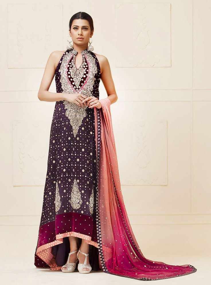 Picture of Purple mehsuri dress