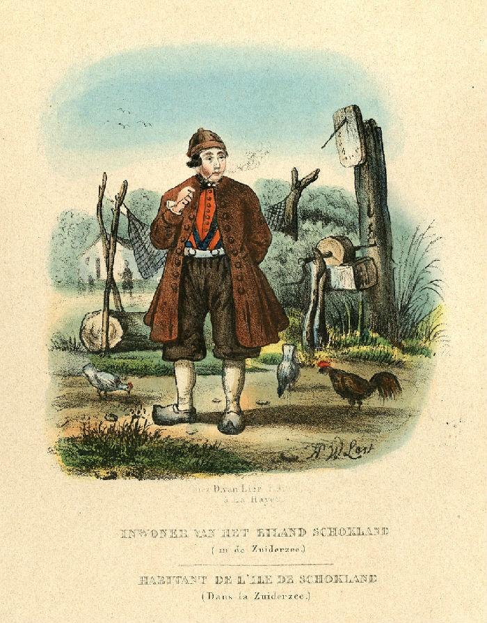 De eilanders hebben de klederdracht uit de grafelijke tijden bewaard. 1850 #Schokland