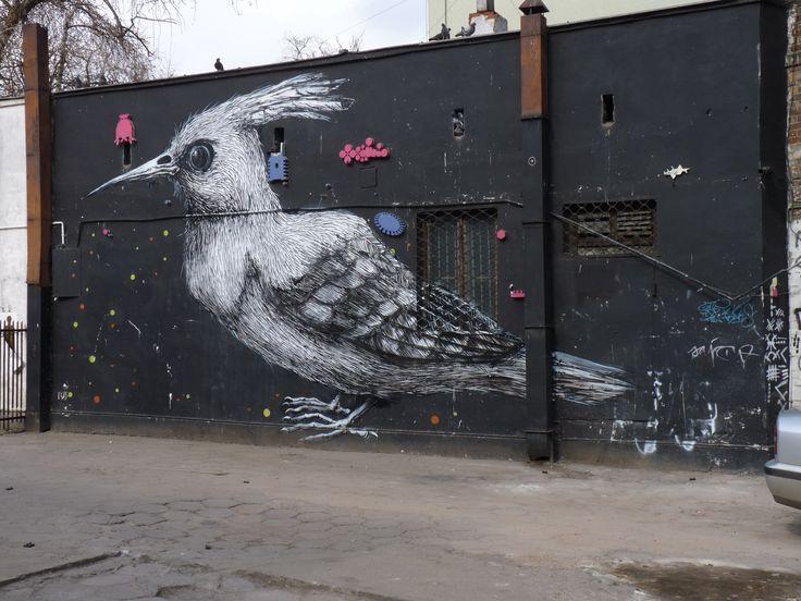 Work by Roa, mural. 11 Listopada street, Warsaw/ Warszawa, 2010. fot. by Aleksander Robotycki #mural #streetart #Warszawa