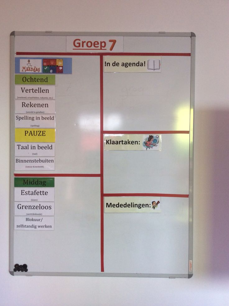 Planbord groep 7