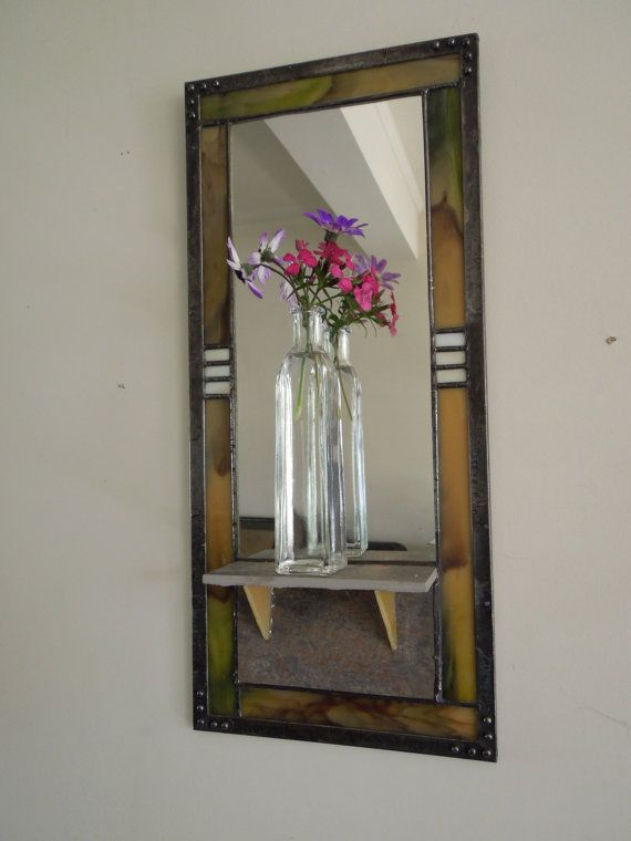 how to make a stained glass mirror
