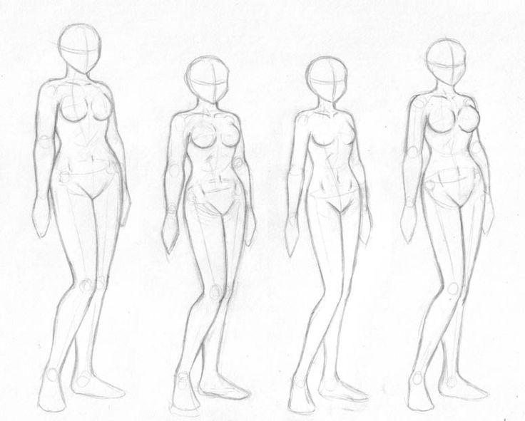 Female body sketches by merrypaws.deviantart.com on @deviantART