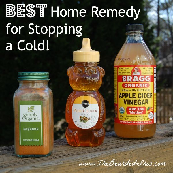 Best home remedy for stopping a cold by The Bearded Iris-I feel one coming on, so I tried this. Definitely an unusual drink, but I downed it. My throat feels a bit better now!: