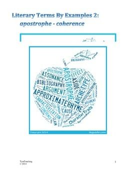 What are some examples of the literary term apostrophe