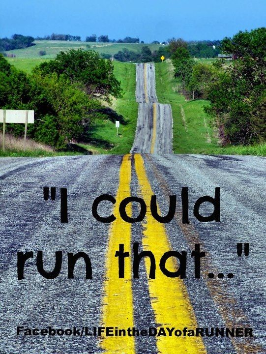 You know your a runner if that's the first thing you think when you see a route like this!
