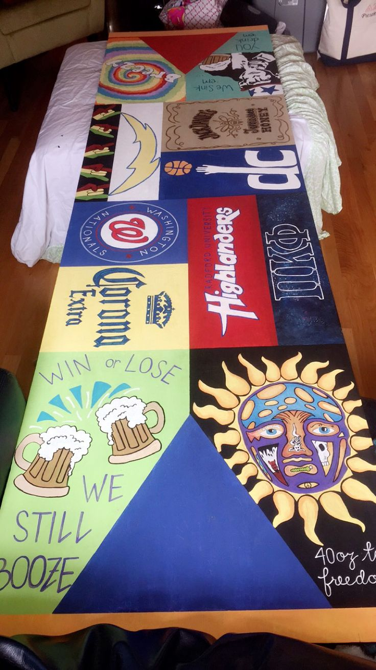 Hand painted beer pong table bp table sublime radford beer corona Washington Nationals pi kappa phi wizards rasta tie dye
