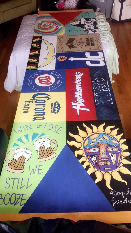 Homemade beer pong table - Hand Painted Beer Pong Table Bp Table Sublime Radford Beer Corona Washington Nationals Pi Kappa Phi