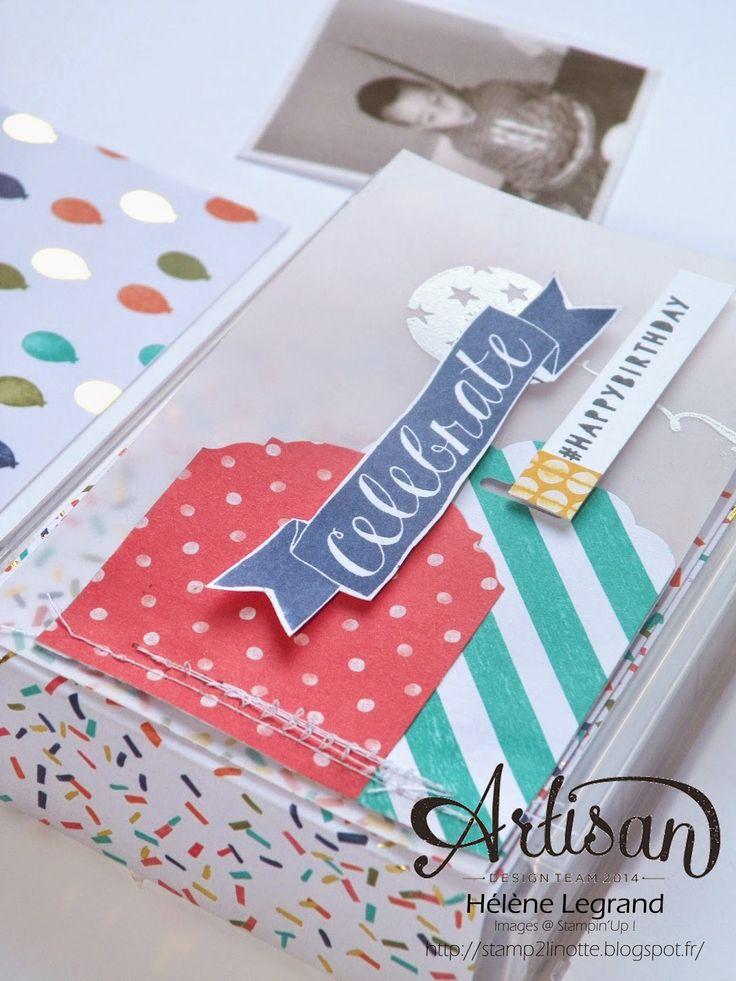 Celebrate birthday with balloon bash set ! Stamp 2 LiNotte: Quand tu auras 18 ans - Stampin'Up ! Artisan Blog Hop - Mars # 4