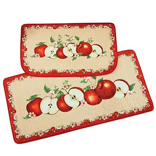 Country Apple Kitchen Rugs