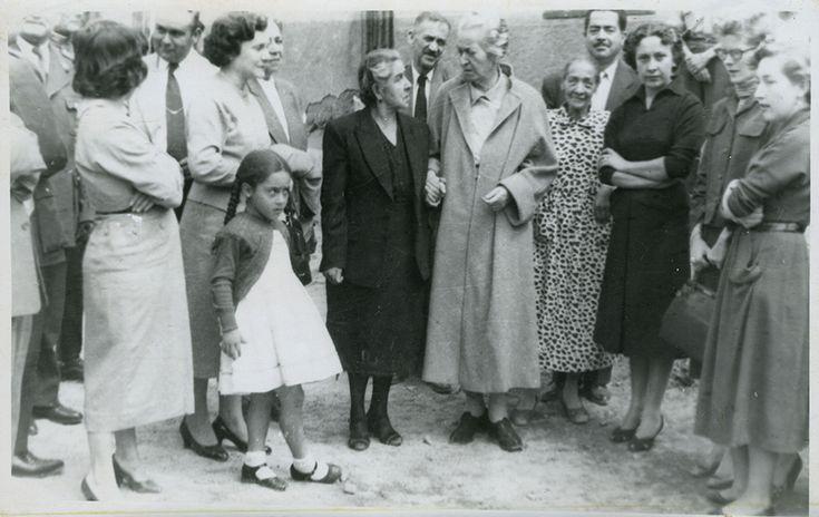 Última visita de Gabriela Mistral a Vicuña, 1954.