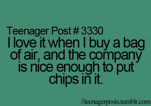 How dare they put chips in my bag of air!