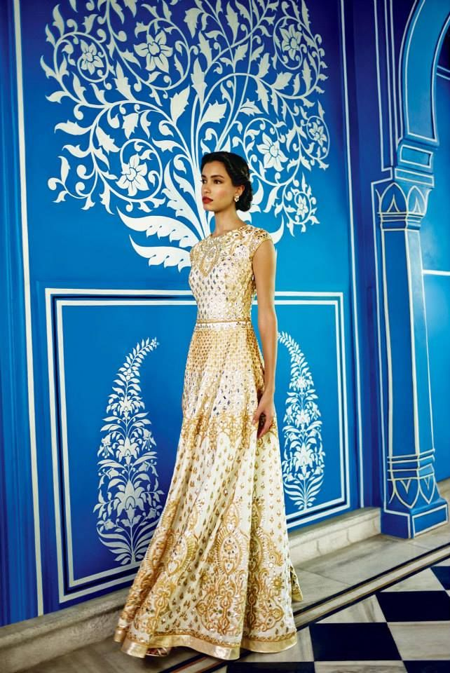 Anita Dongre AW 2014 - beautiful bridal / registry dress and what a great setting for a photoshoot!