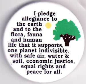 I Pledge Allegiance to the Earth Flair Pin