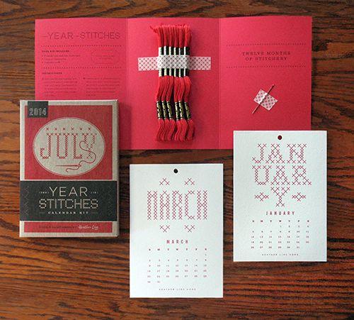 Year in Stitches Calendar Kit