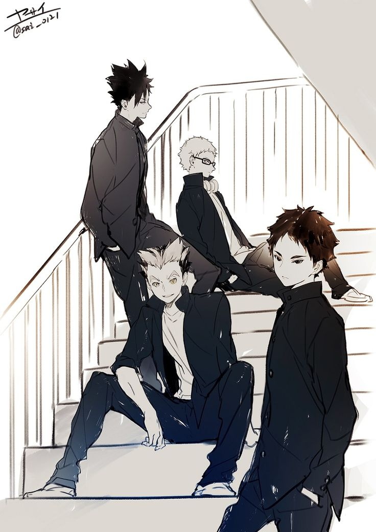 Haikyuu Tsukishima Kei & Kuroo Tetsurou & Bokuto Kotarou & Akaashi Keiji