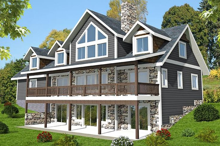 HOUSE PLAN 039-00700 – Beautiful window views and abundant outdoor space highlight this Mountain house plan. Approximately 4,036 square feet of living space is found in the home's interior along with three bedrooms and two plus baths.