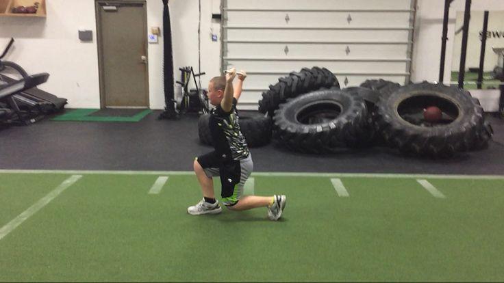 Football Drills For Kids: Snatch Speed Lunge