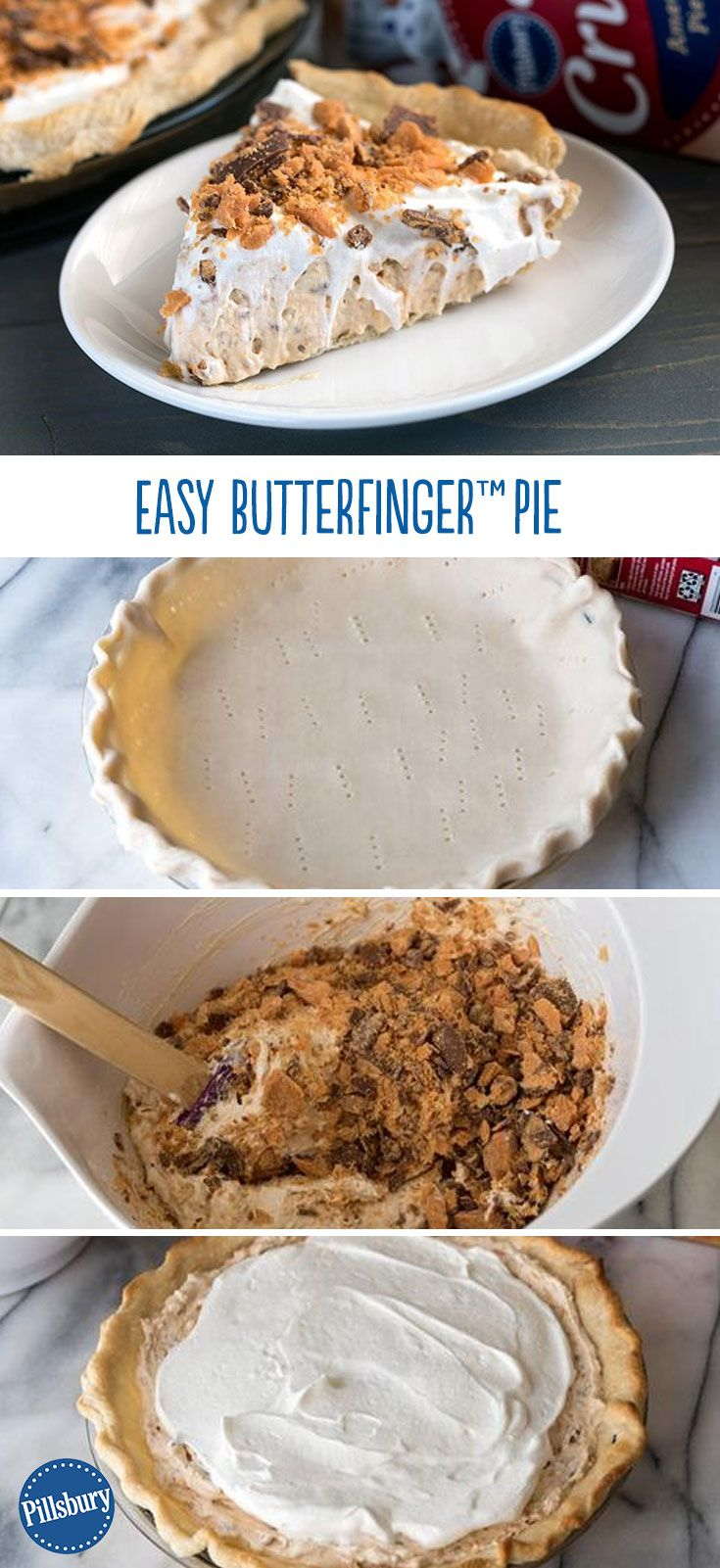 Butterfinger lover? We thought so. Blogger Crazy For Crust creates an ode to your favorite candy bar with a handful of simple ingredients and a few minutes of prep. This easy Butterfinger Pie is the be-all end-all to your sweet tooth.