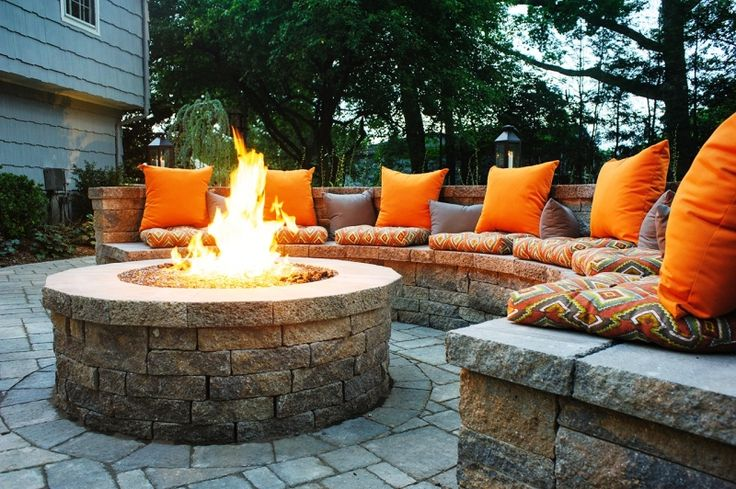 Outdoor Fire Pit with comfortable seating for family and guests.   ~  20 Ways to Make Your Backyard Awesome This Summer2