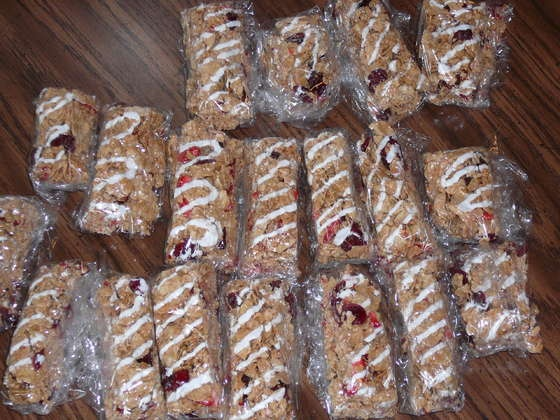 Healty breakfast cereal bars on Instructables