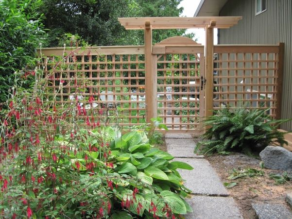 Interesting idea Make a fence out of trellis material and