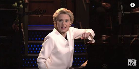 On 'SNL' a somber Hillary Clinton refuses to give up     - CNET Technically Incorrect offers a slightly twisted take on the tech thats taken over our lives.  Enlarge Image  Shes not giving up.  Photo by                                            SNL/ YouTube screenshot by Chris Matyszczyk/CNET                                          For a moment the laughter stopped.  Some might have expected Saturday Night Live to return with another excoriation of the new president-elect. How much further…