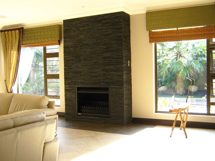#Ledgestone #rivens offer personality and sophistication to this #fireplace. #UnionTiles