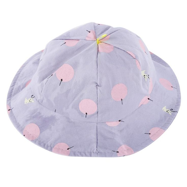 Sweet Children Sun Cap Polka Dot Summer Outdoor Baby Girl Beach Bucket Hat