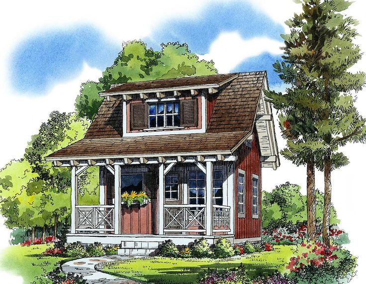 Plan 11537KN Cozy Guest Cottage Or Retreat