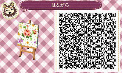 ACNL/ACHHD QR CODE-Floral Wall, Fabric