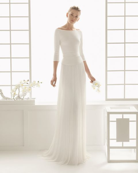 Vestidos de noiva minimalistas 2016: ultra-elegantes e chiques Image: 2