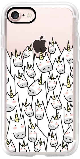 Casetify iPhone 7 Classic Grip Case - Lots of Unicorns - Unicorn Crowd - For Unicorn Lover - 1 by Happy Cat Prints #Casetify