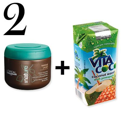 """Brazil: Coconut Hair Cocktail  Forget caipirinhas. Girls from Ipanema get a buzz from this shine-enhancing mixture. """"Once a week, apply a cocoa butter treatment mask, let it sit for a half hour, then rinse it out with coconut water,"""" says pro Marco Antonio De Biaggi of São Paulo. """"The combination leaves hair incredibly soft and moisturized—it's a trick of many Brazilian women."""""""