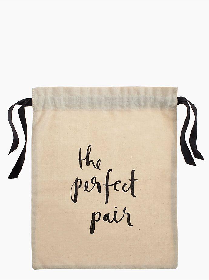 the perfect pair shoe bag, natural