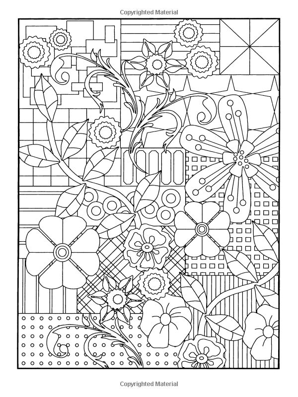 Amazon Com Garden Party Flower Designs To Color Dover Flower Design Coloring Pages