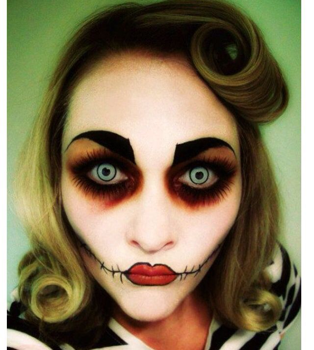 Scary puppet makeup