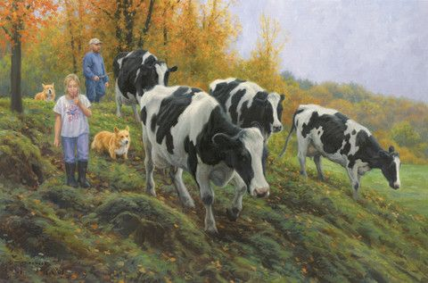 Poster print of the original oil painting, 18 1/2 inches by 28 inches. Posters are printed on 80 pound cover stock paper; they are unsigned open edition art prints. by Robert Duncan