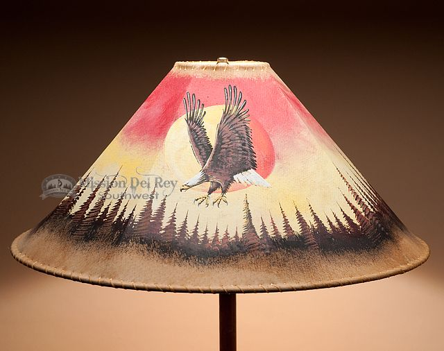 38 Best Images About Rustic Painted Lamp Shades On