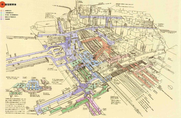 Shinjuku Station Real Dungeon Where You Will Never Get Out - Tokyo japan 3d map