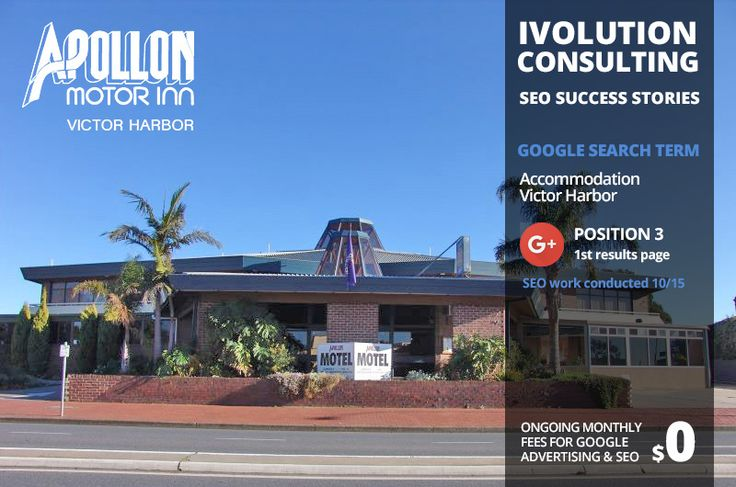 Ivolution Consulting - SEO Success Stories - Invisible to Top 3 in less that 2 months for 'Accommodation Victor Harbor'